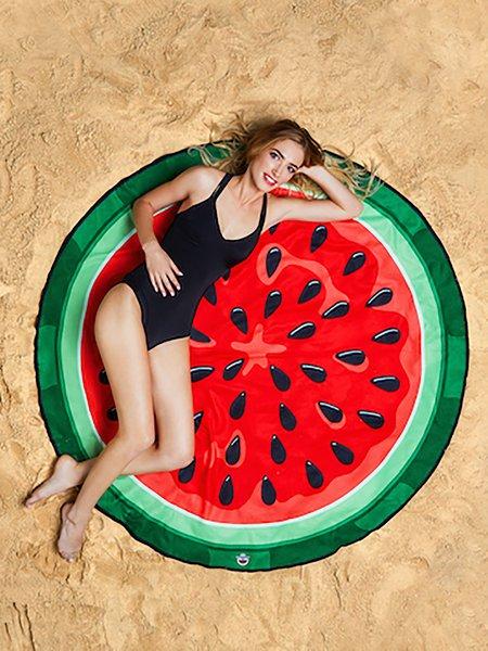 Sweet Beach Watermelon Red Blanket