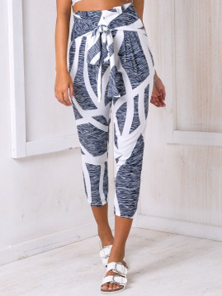 When In Doubt Gray Abstract Printed Pants