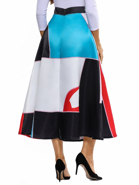 flarest of all color block maxi skirt justfashionnow