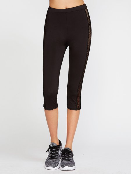 Go Runnning Black Mesh Inserted Leggings