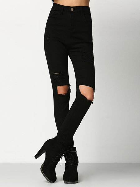 Join Us Black Street Ripped Jeans