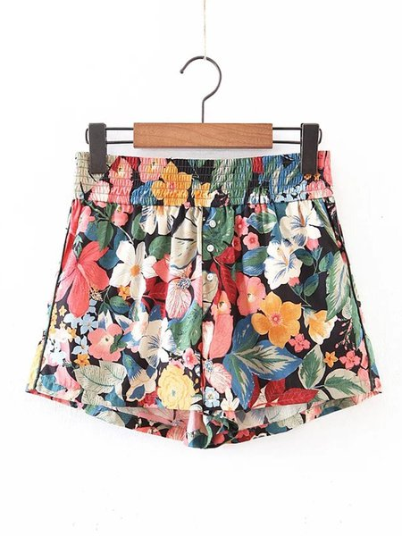 Join the Festivities Floral-print Shorts