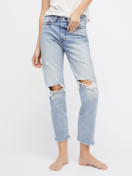 Gray Street Denim Ombre Ripped Jeans