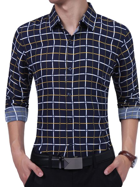 Shirt Collar Solid Casual Shirt