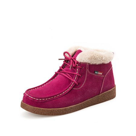 Suede Warm Ankle Boots Casual Shoes for Women