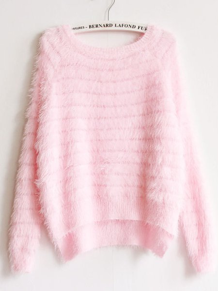 Womens Loose Knit Mohair Pullover Sweater Soft Knitwear ...