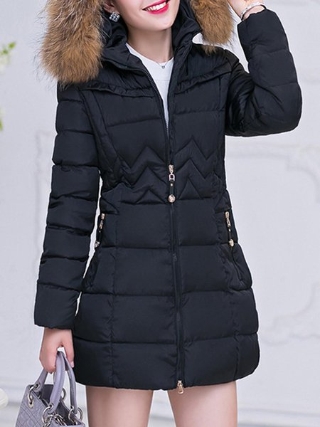 Women Thick Fur Parka Hooded Coat Winter Dawn Jacket ...