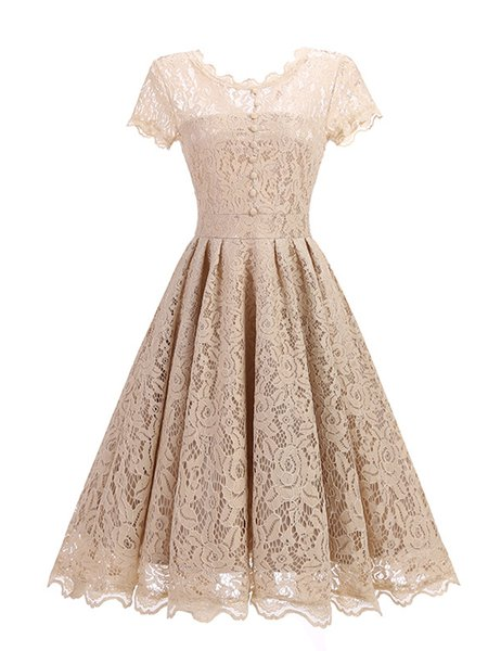 Women Prom Dress A-line Party Cotton Printed Dress