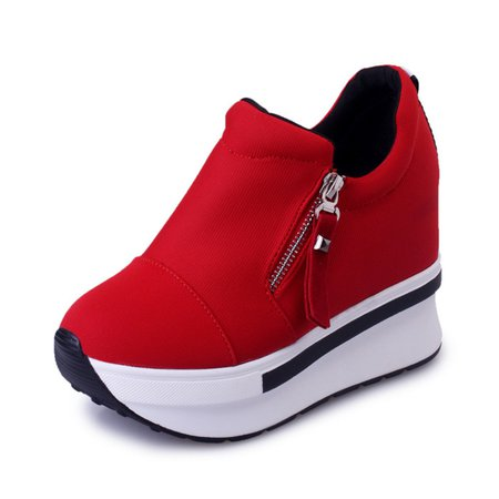 Women's Shoes Zipper Platform Casual Increased within Shoes
