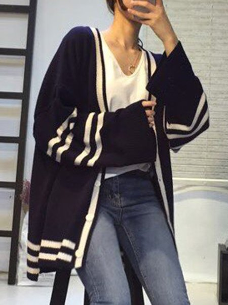 Long Sleeve Buttoned Simple Cardigan