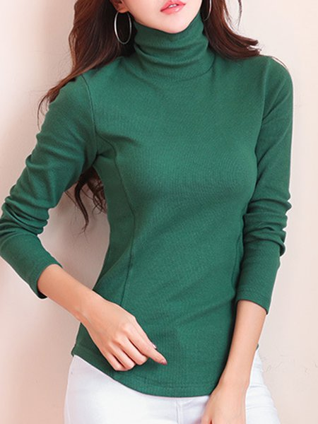 Purple long sleeve turtleneck solid t shirt for Long sleeve black turtleneck shirt