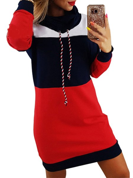 Long Sleeve Paneled Casual Cotton Dress