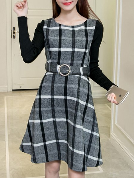 Long Sleeve Casual Knitted Dress