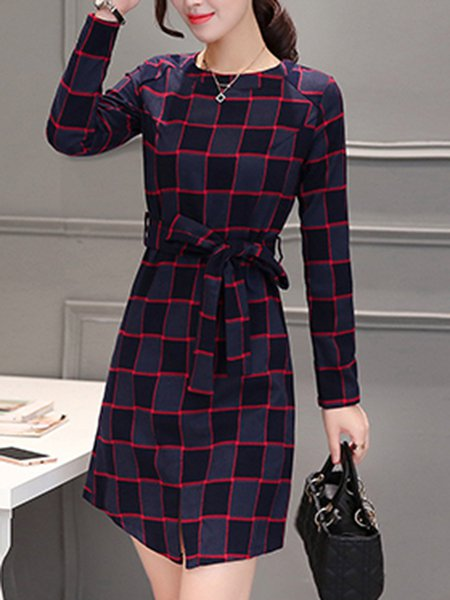 Long Sleeve A-line Elegant Dress
