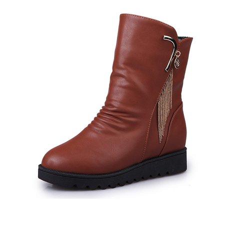 Non Slip Platform Winter Tassel Boots