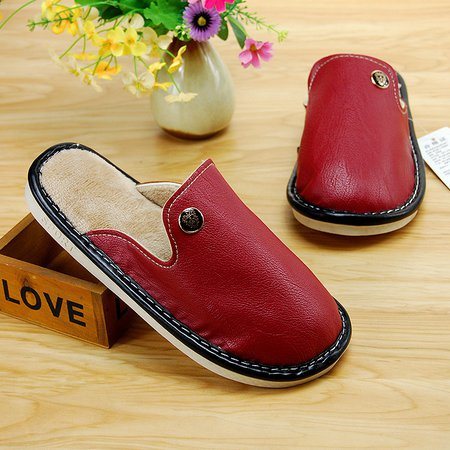 Waterproof Casual Winter PU Warm Slippers