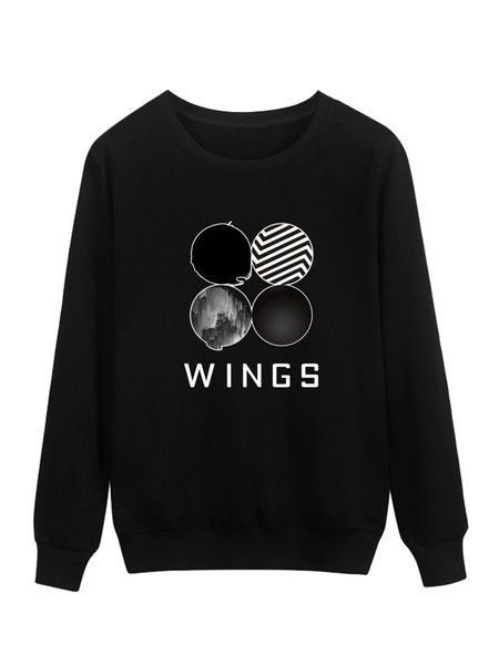 Long Sleeve Printed Crew Neck Sweatshirt
