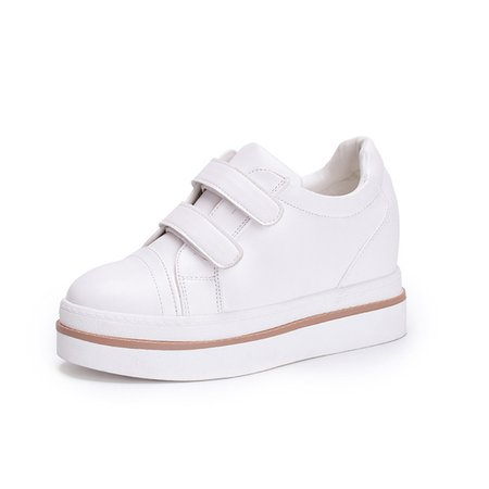 Magic Tape Casual Wedge Heel PU Sneakers