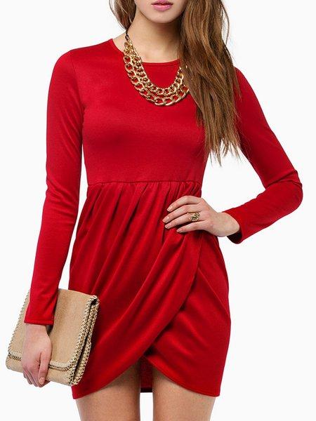 Sheath Elegant Long Sleeve Dress