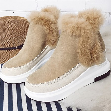 Flurry Faux Suede Casual Wedge Heel Boots