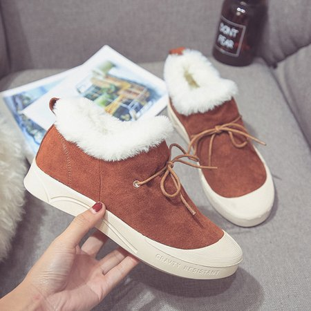 Bowknot Flurry Casual Platform Suede Boots