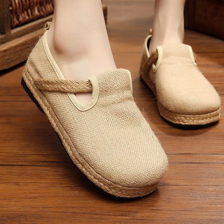 Breathable Linen Slip On Loafers