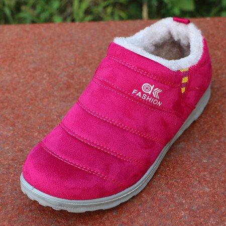 Women Fur Lining Slip On Warm Boots