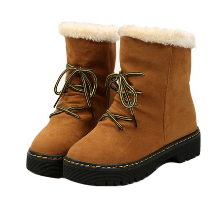 Women Bowknot Slip On Warm Boots