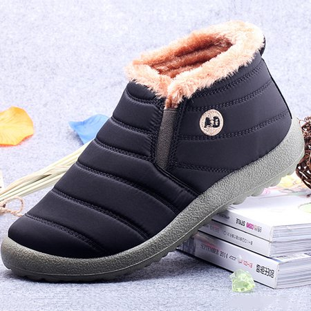 Warm Waterproof Cloth Slip On Casual Boots