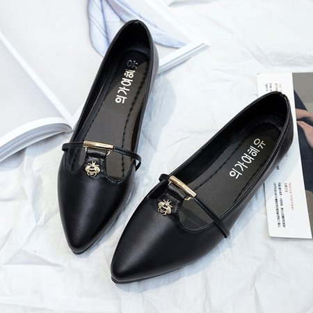 Elegant Pointed Toe PU Flats