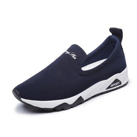 Canvas Athletic Platform Slip On Sneakers