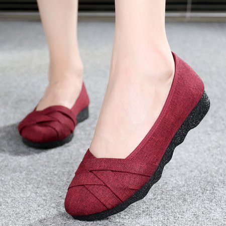 Waterproof Weave Cloth Non-slip Flats