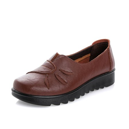 Soft PU Flat Heel Slip On Loafers
