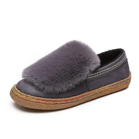 Flurry Gray Platform Slip On Loafers