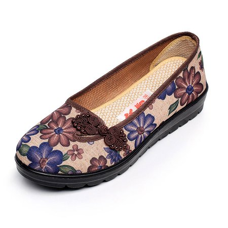 Casual Floral Print Non-slip Flats