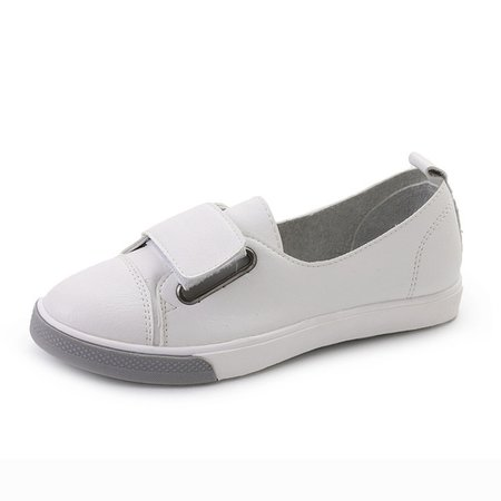 Magic Tape Casual PU Flat Heel Loafers
