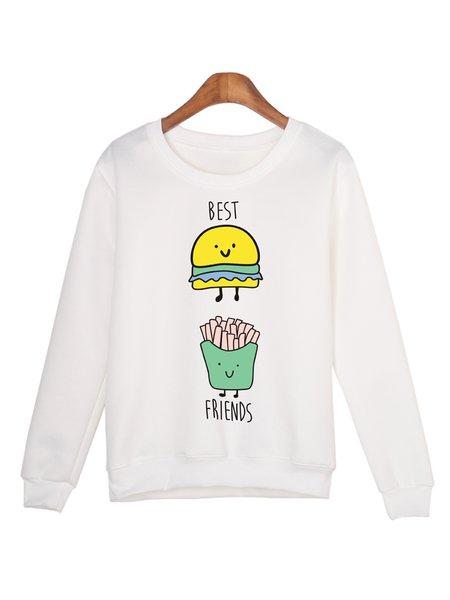 Crew Neck Cute Long Sleeve Sweatshirt
