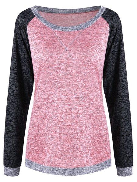 Pink Crew Neck Plain Basic Cotton T-Shirt