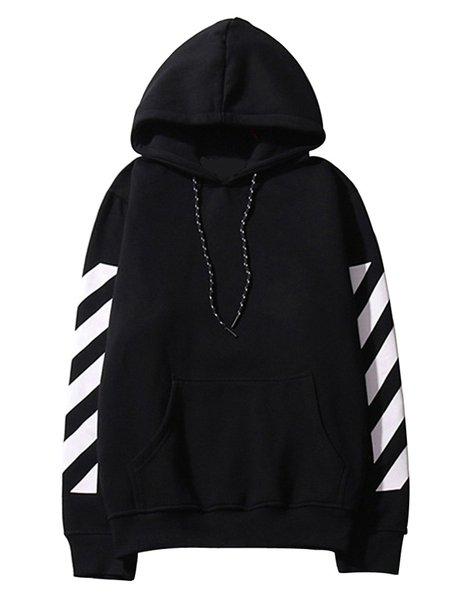 Printed/Dyed Cotton-blend Stripes Casual Hoodies & Sweatshirt