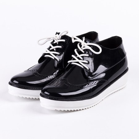 Casual All Season Wedge Heel Lace-up Creepers