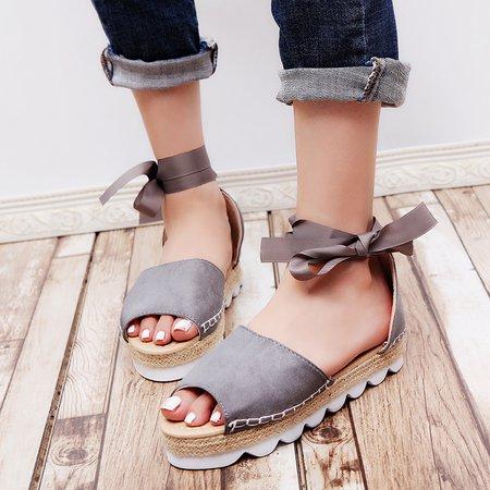Platform Lace-up Summer Sandals