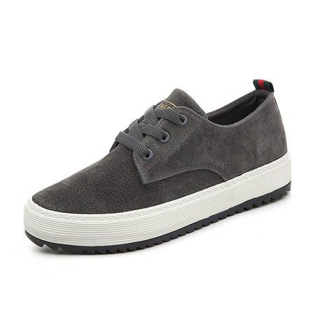 All Season Split Joint Flat Heel Pigskin Leather Flats