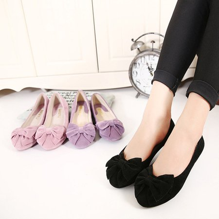 Flat Heel Bowknot Suede Spring/Fall Casual Flats