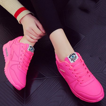 Lace-up All Season Athletic PU Flat Heel Sneakers