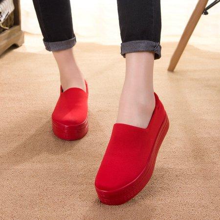 Casual All Season Canvas Flat Heel Loafers