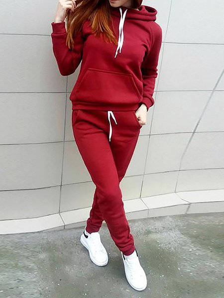 Long Sleeve Two Piece Cotton Casual Women's Co-ord