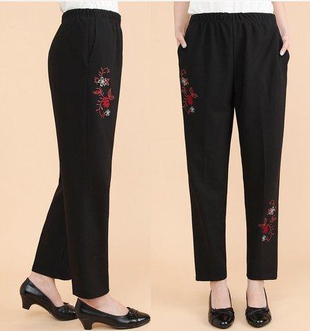 Black Casual Painted Spandex Pants