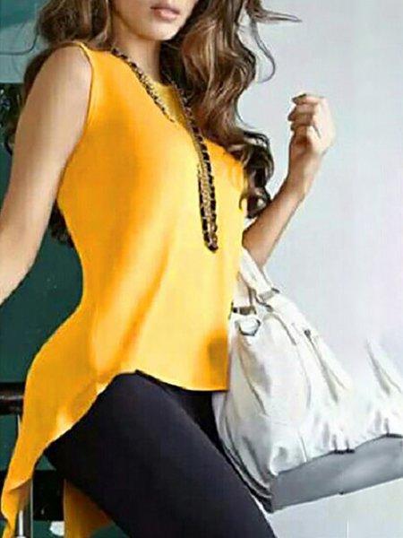 Yellow Chiffon Elegant T-Shirt