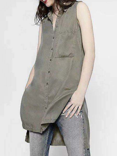Asymmetrical Casual Sleeveless Shirts