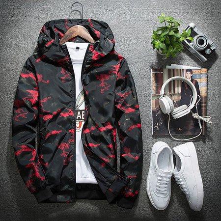 Hoodie Casual Abstract Long Sleeve Jacket